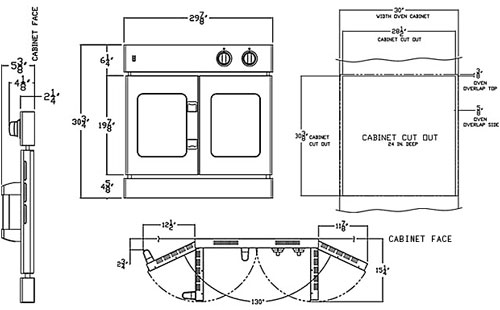 French Door Wall Oven Diagram