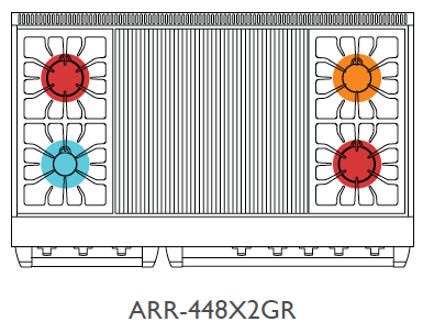 Top View of ARR-4482GR*